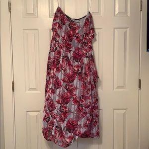 Banana Republic Mid Length Strapless Floral Dress